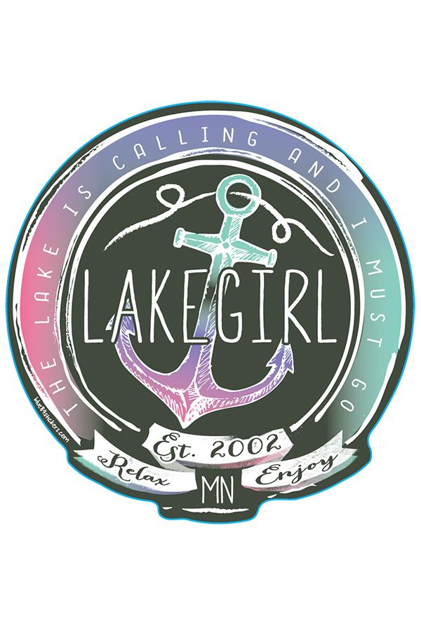 Lakegirl - The Lake is Calling Sticker