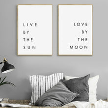 Load image into Gallery viewer, Bedroom Wall Art Minimalist Canvas Print Poster - Soul Tribe Life