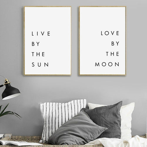 Bedroom Wall Art Minimalist Canvas Print Poster - Soul Tribe Life