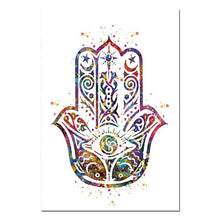 Load image into Gallery viewer, Abstract Watercolour Buddha Zen Lotus Poster Peace Wall Art