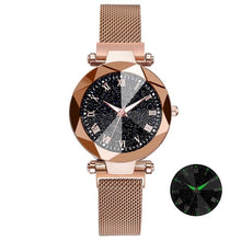 Load image into Gallery viewer, Luxury Starry Sky Stainless Steel Mesh Watches Crystal Analog Quartz