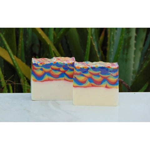 Rainbow Waves Soap Unscented 4 oz Bar