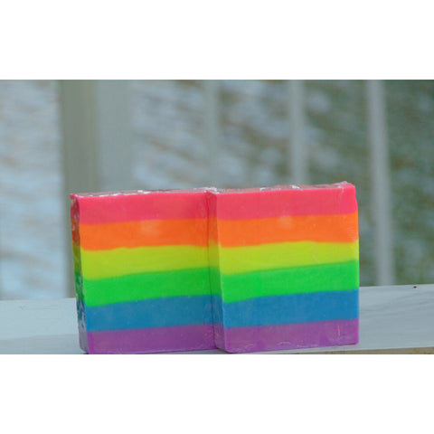 Neon Rainbow Soap Unscented 6 oz Bar