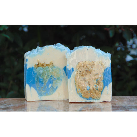 Ocean Fragrance Soap with Sea Sponge 6 oz Bar