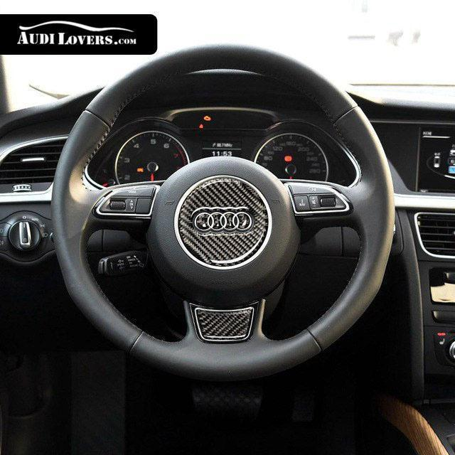 Racing Carbon Fiber Sticker For Audi Steering Wheel