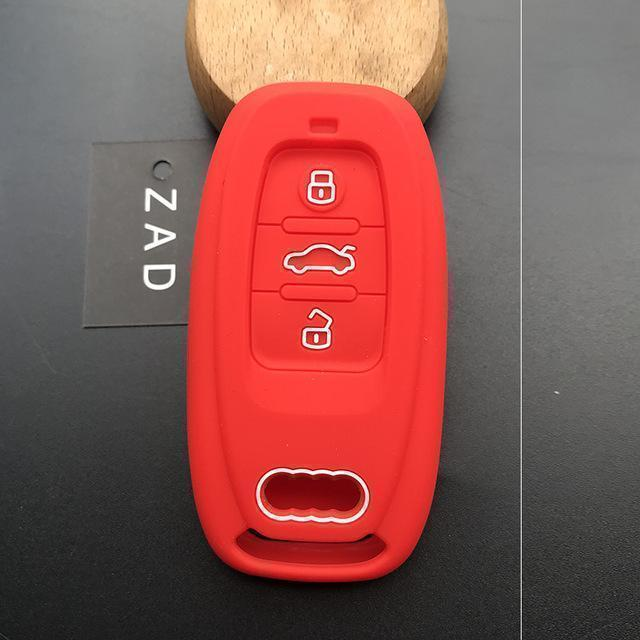 Stylish Silicon Key Cover For Audi Smart Keyless  (Full Protection)