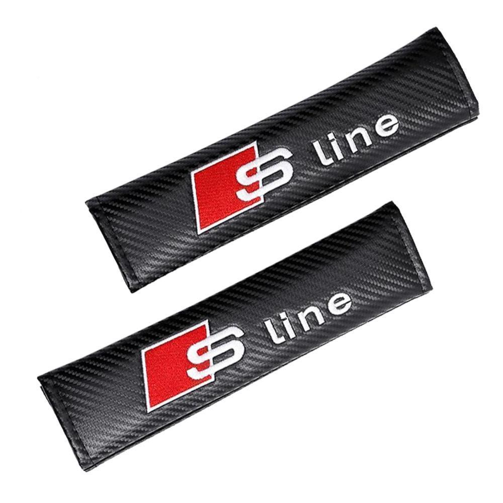 S-line in Carbon Fiber Style Seat Belt Covers (2 pieces)