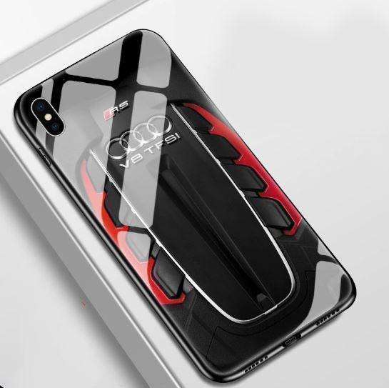 RS Engine Tempered Glass iPhone Case