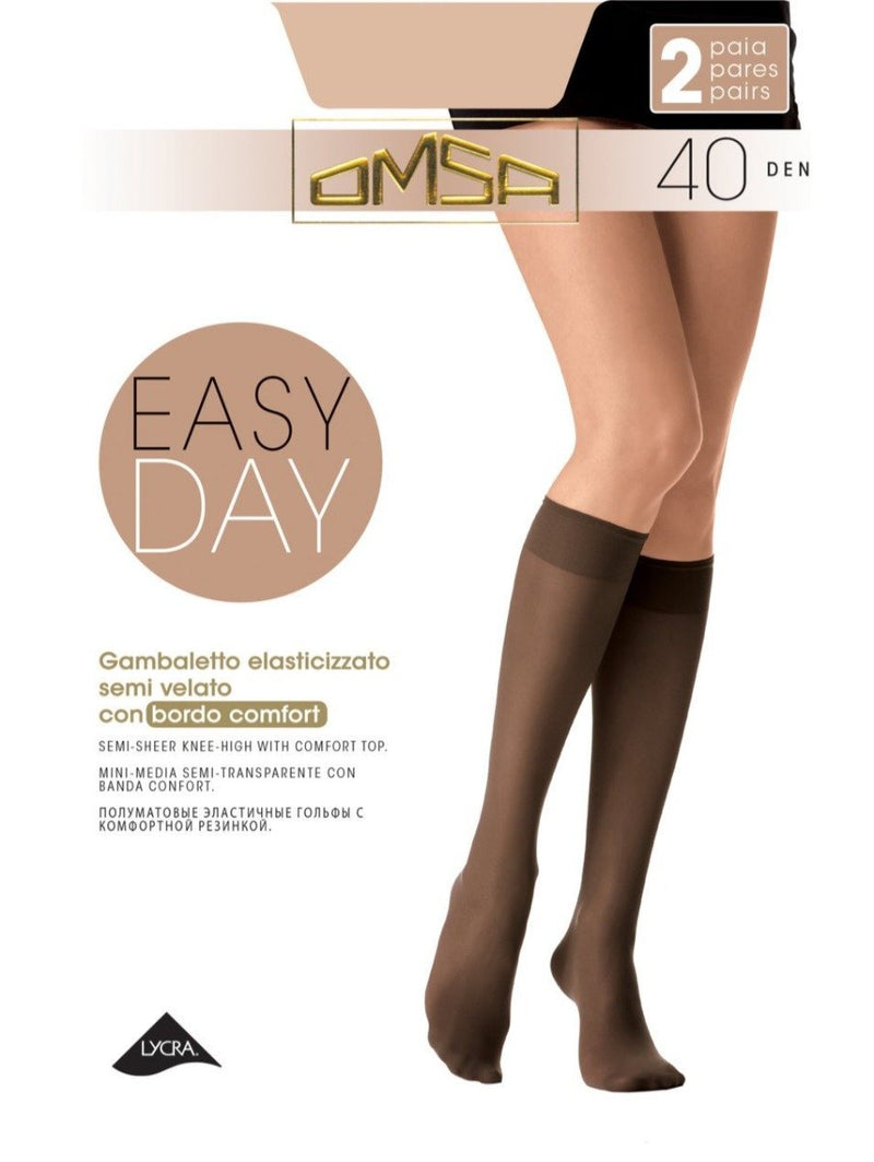 3/4 фини чорапи Easy Day 40 den - 2 чифта - Zaza-bg