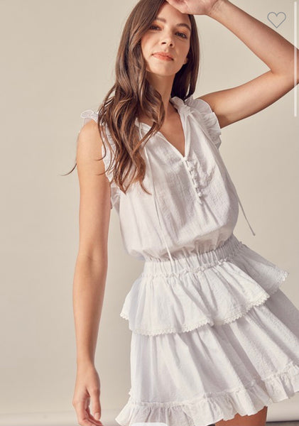 Addi White Ruffle Dress