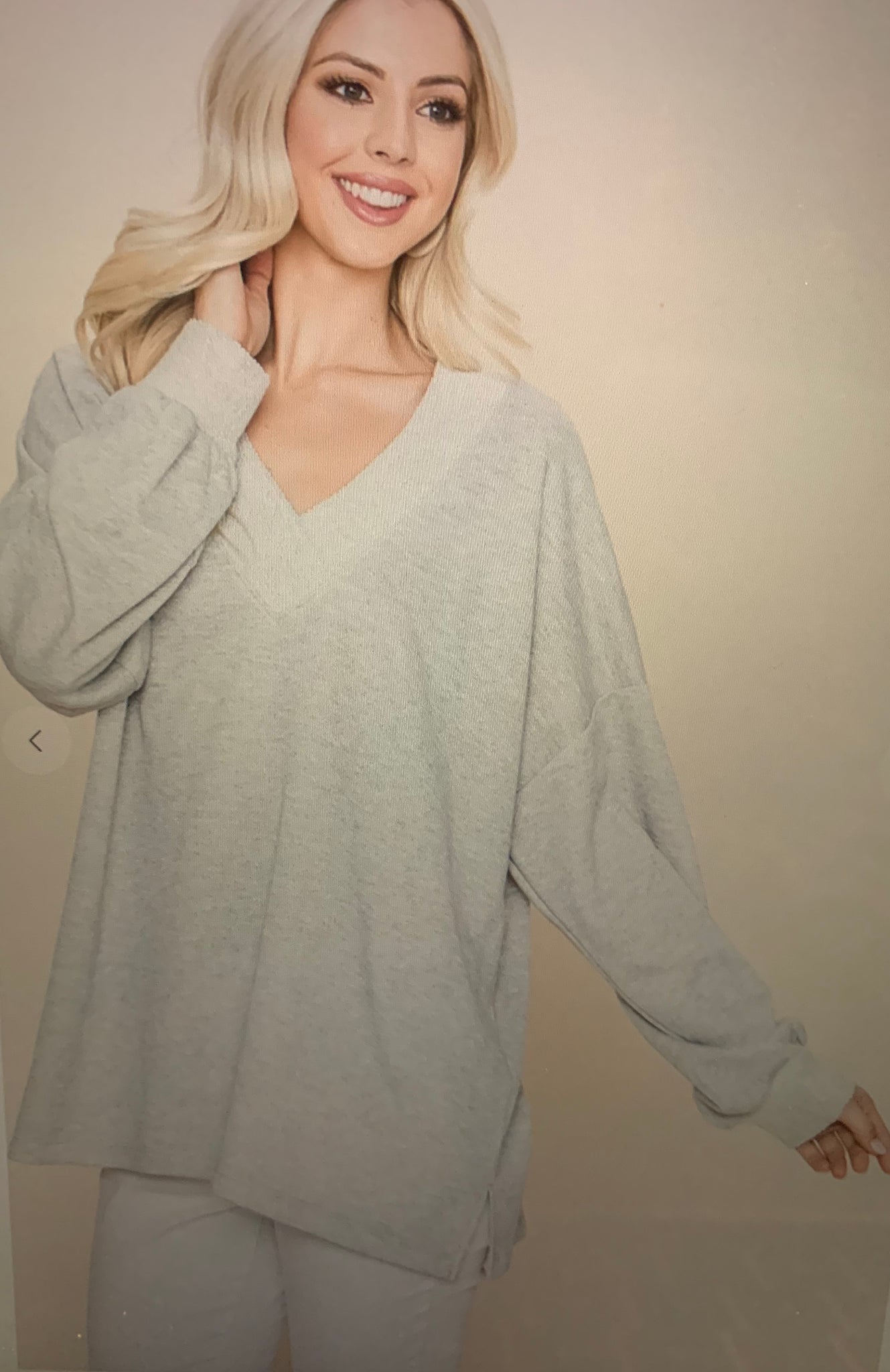 Perfect Grey Pullover Curvy
