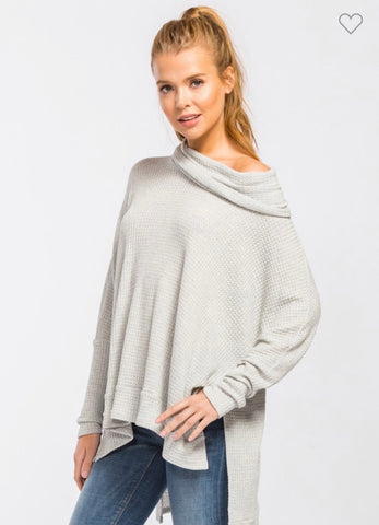 Heather Grey Thermal Top
