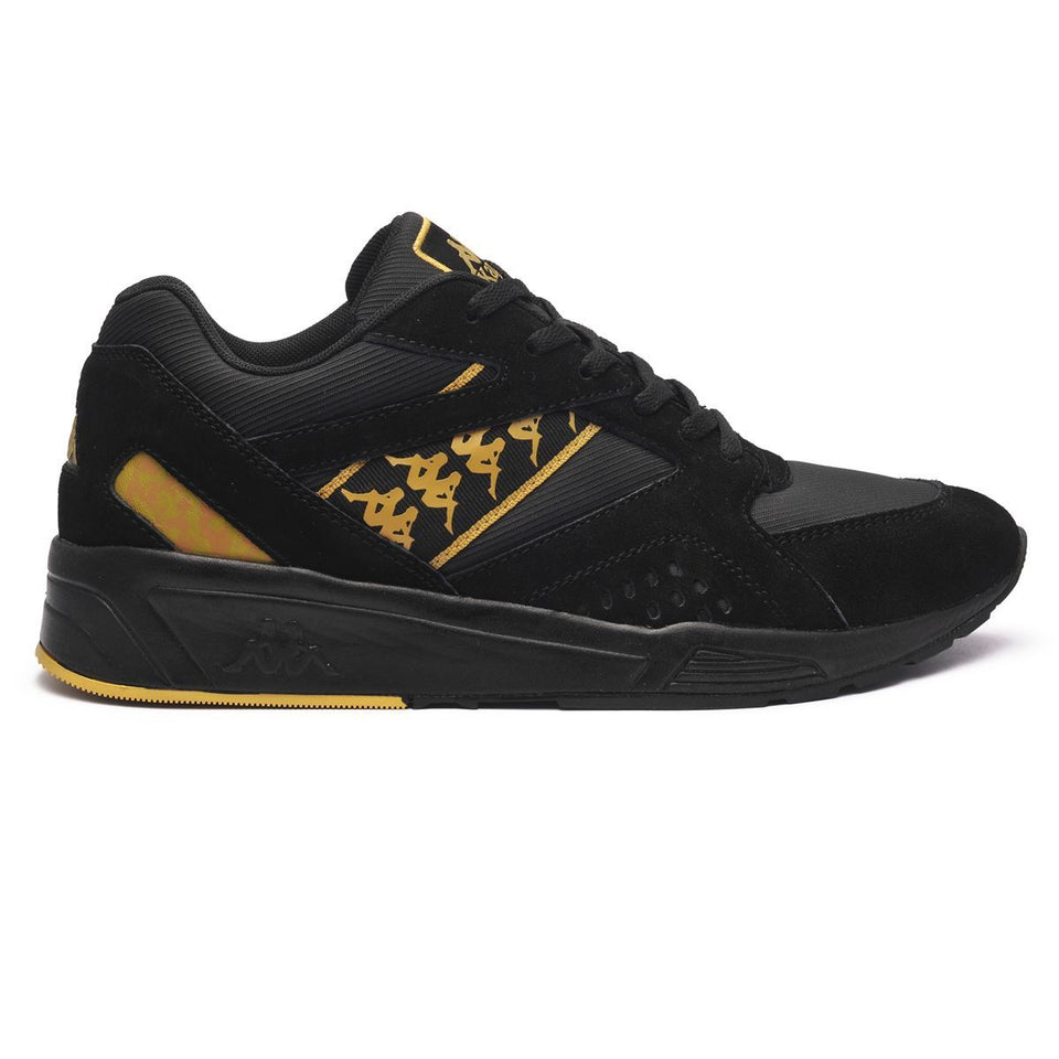 222 BANDA GARKO1 UNISEX LOW CUT SNEAKERS BLACK-GOLD