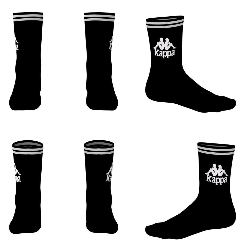 AUTHENTIC ASTER 1PACK UNISEX CREW SOCKS COLOR BACK-WHITE
