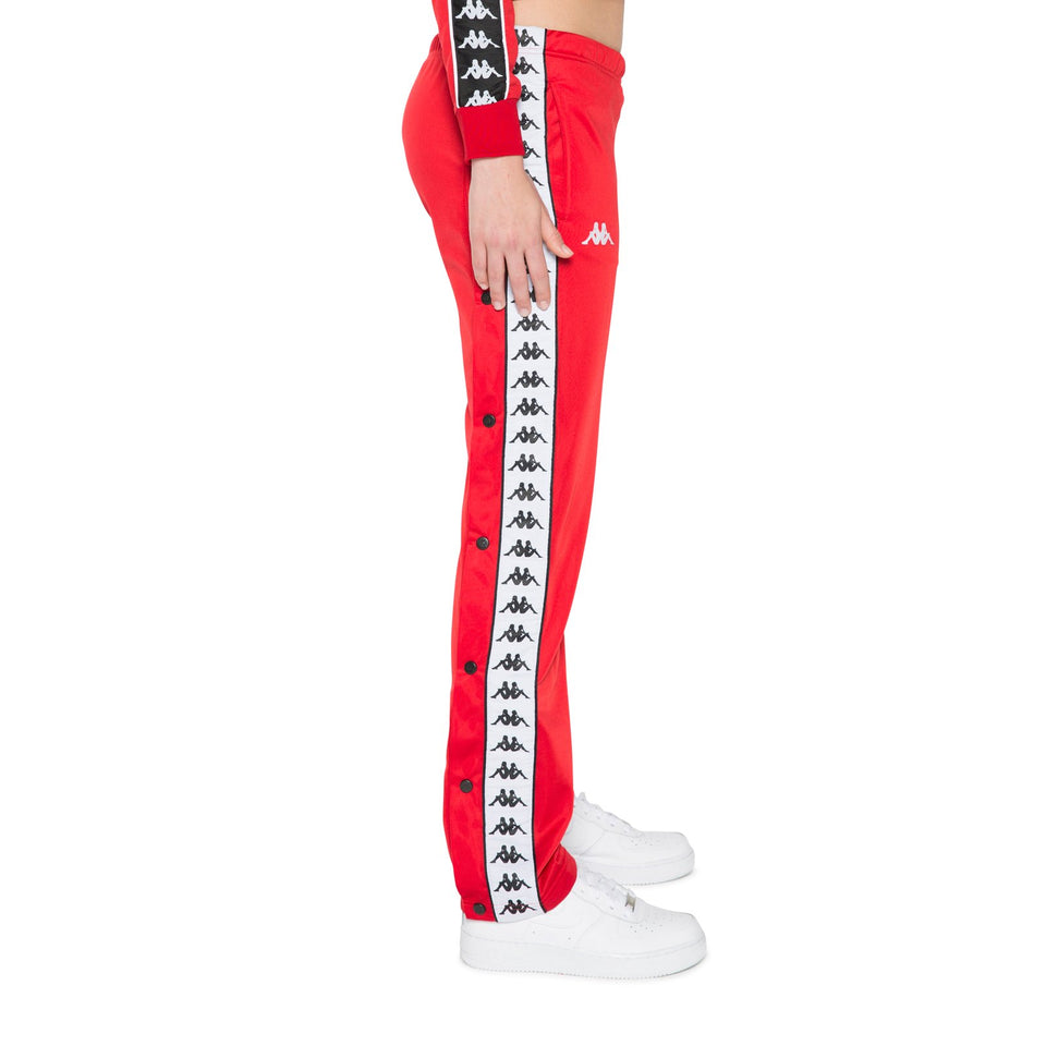 BANDA WASTORIA WOMEN'S SLIM FIT SNAPS PANTS COLOR RED-BLACK-WHITE