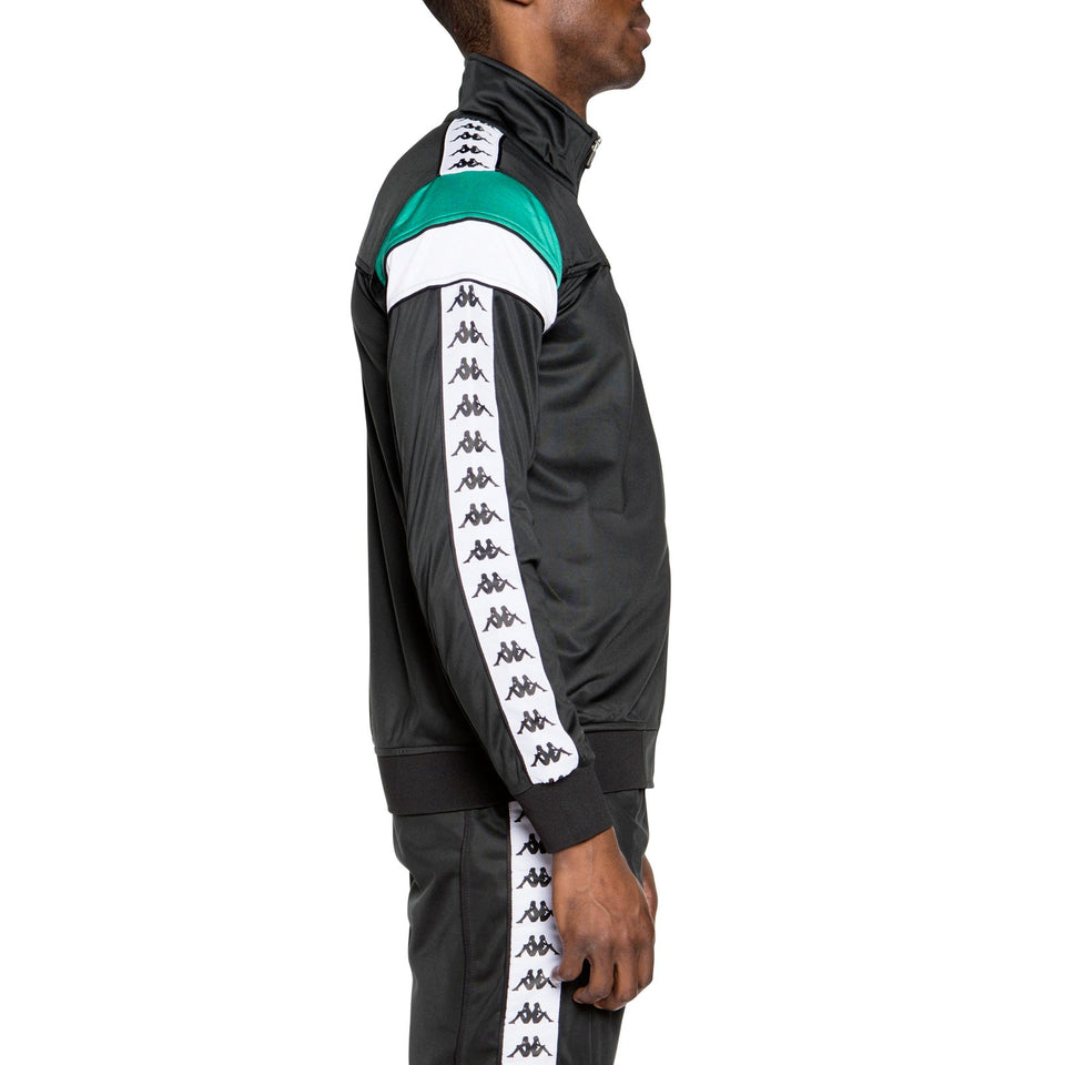 BANDA MEREZ SLIM MEN'S TRACK JACKET BLACK-GREEN-WHITE