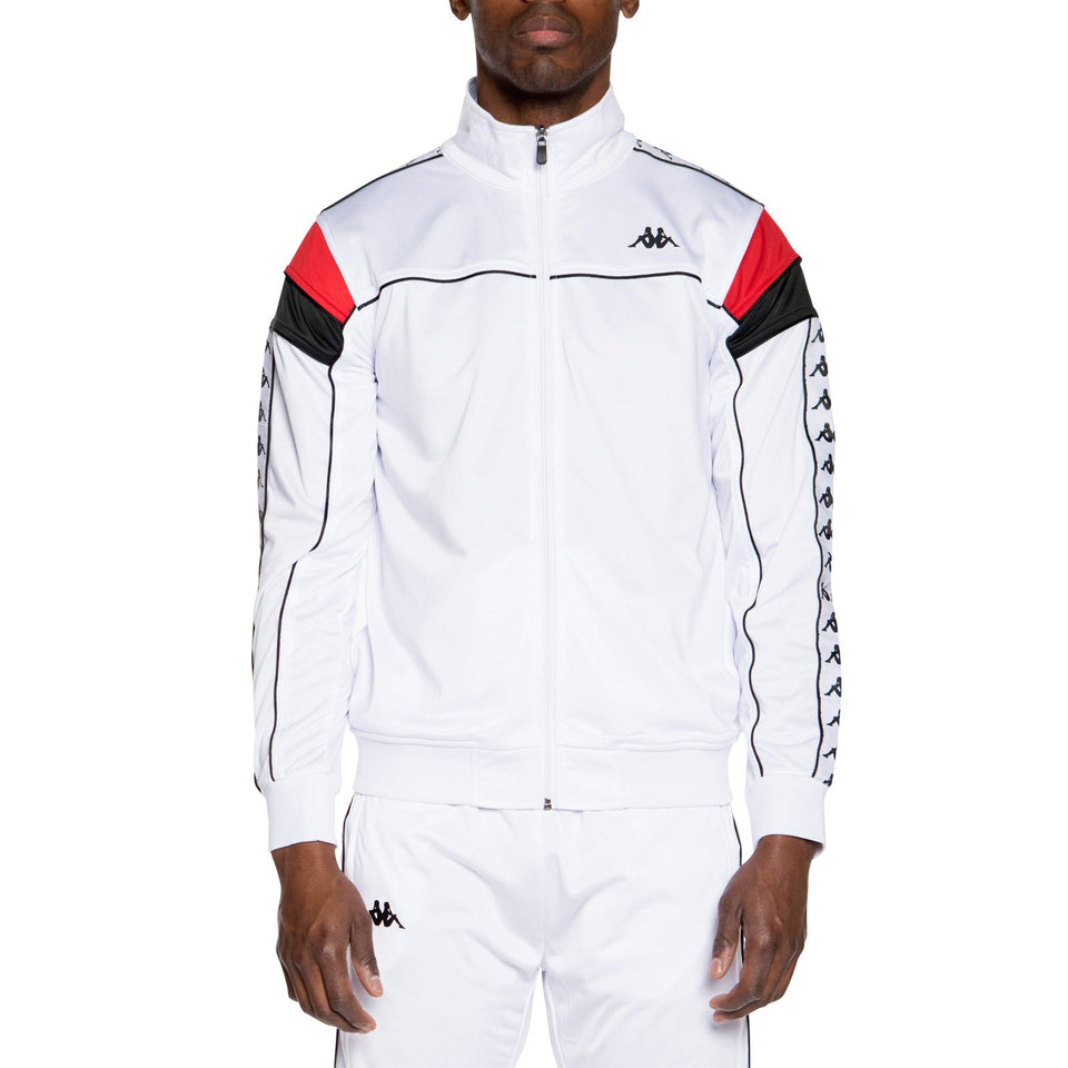 BANDA MEREZ SLIM MEN'S TRACK JACKET WHITE-RED-BLACK