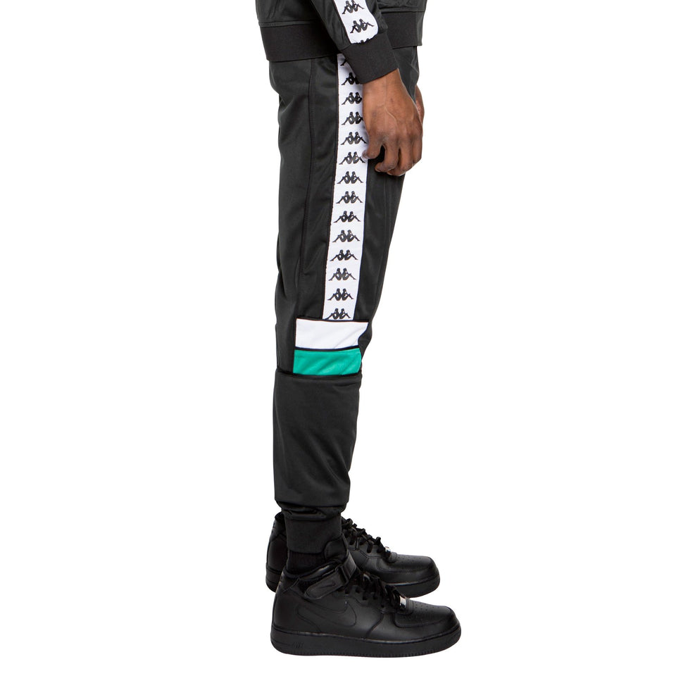 BANDA MEMS SLIM MENS ATHLETIC PANTS COLOR BLACK-GREEN-WHITE