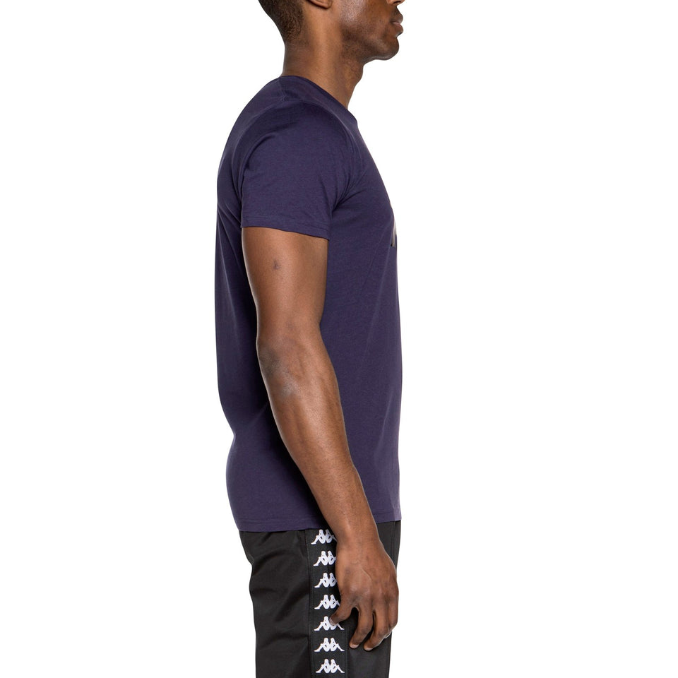 AUTHENTIC ESTESSI SLIM FIT MEN'S SHORT SLEEVES COTTON T-SHIRT COLOR BLUE GREYSTONE