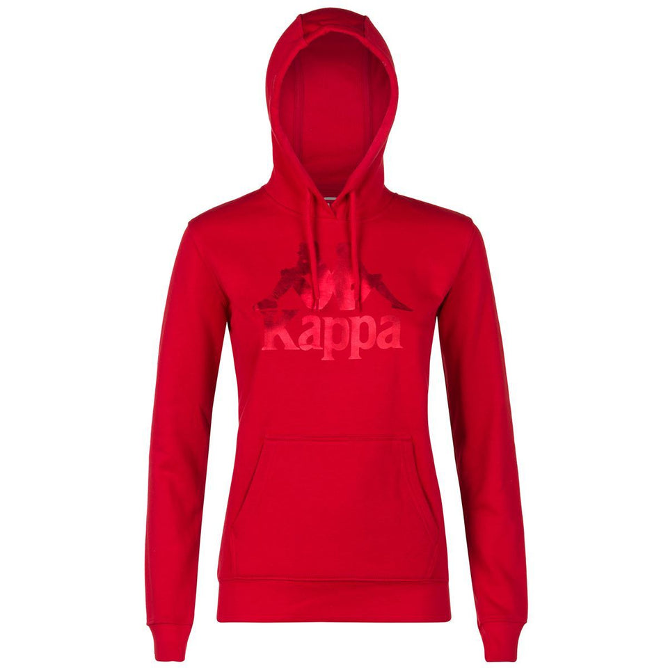 AUTHENTIC ZOUK WOMEN'S SLIM FIT PULL OVER HOODY COLOR RED DK