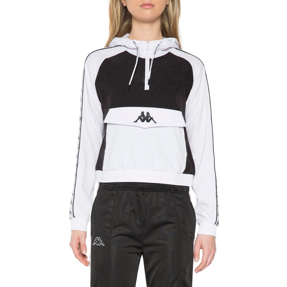 BANDA BANSKEY WOMEN'S REG FIT ANORAK JACKET COLOR WHITE-BLACK