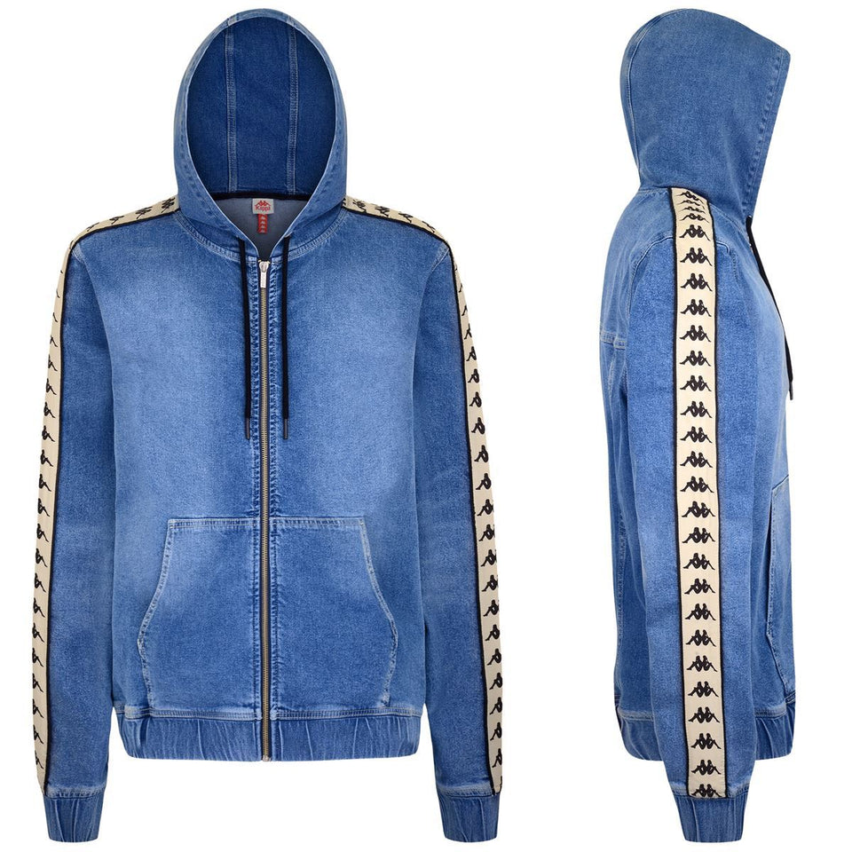 222 BANDA BREDEI REGULAR FIT DENIM HOODY