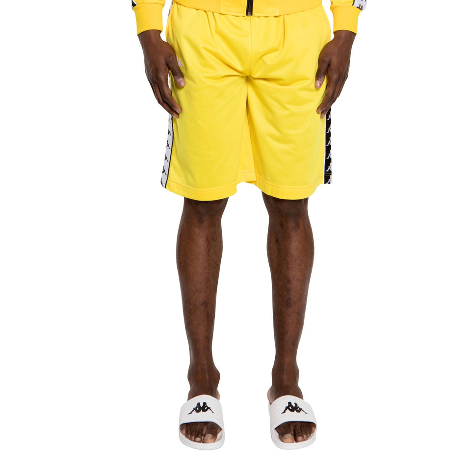 BANDA TREADWELL MEN'S REGULAR FIT BERMUDA SHORTS COLOR YELLOW-BLACK-WHITE