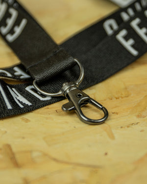 Black Fear Nothing Lanyard