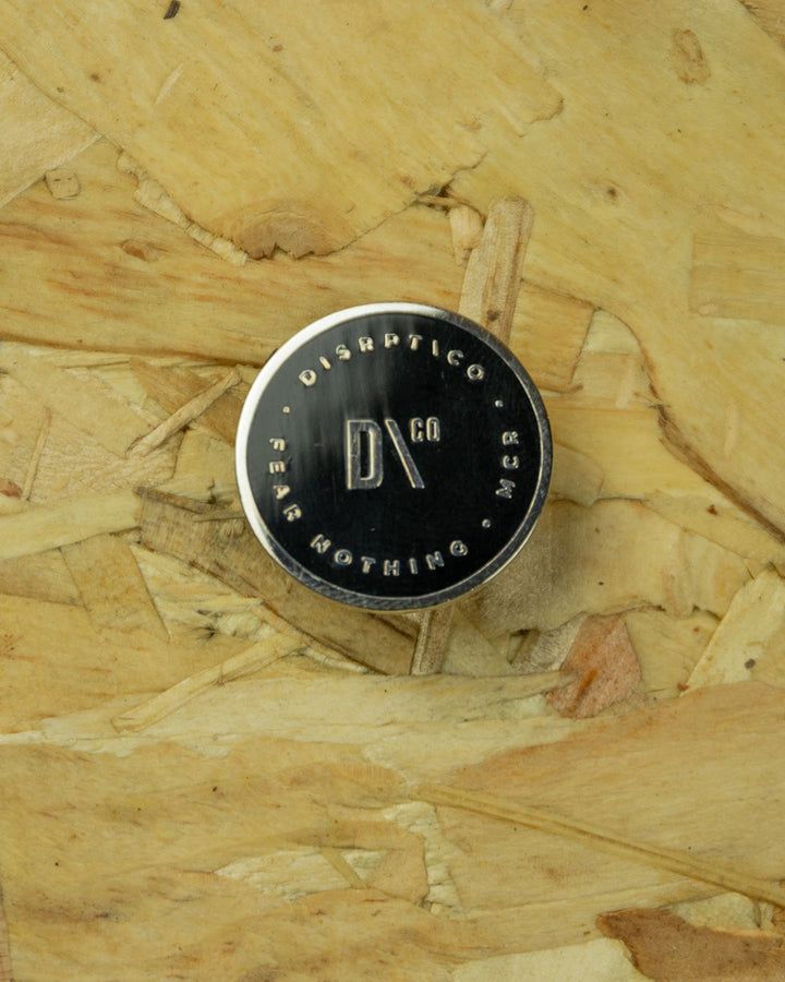Black/Chrome D-Co Pin Badge