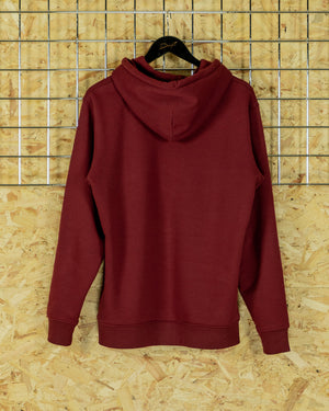 Burgundy/White Big Signature Hoodie