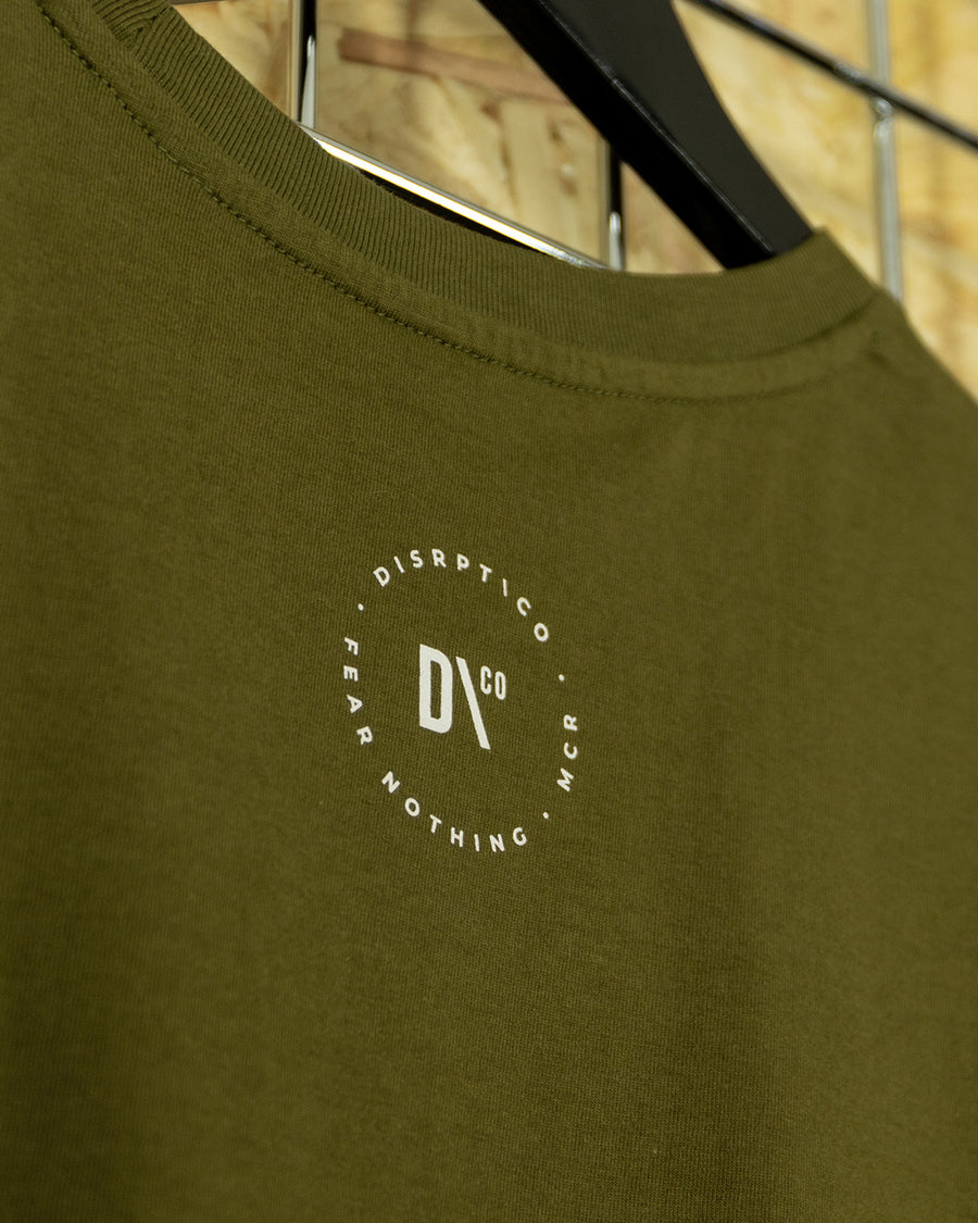 Khaki/White Big Signature Crewneck