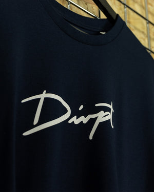 Navy/White Big Signature Crewneck