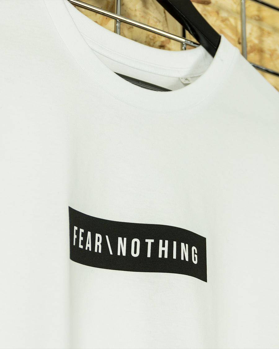 White/Black Fear Nothing Crewneck