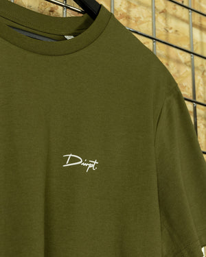 Khaki/White Signature Crewneck