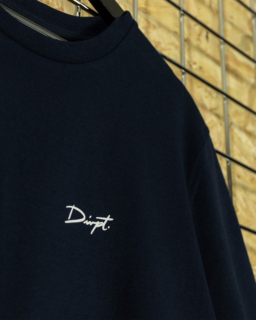 Navy/White Signature Crewneck