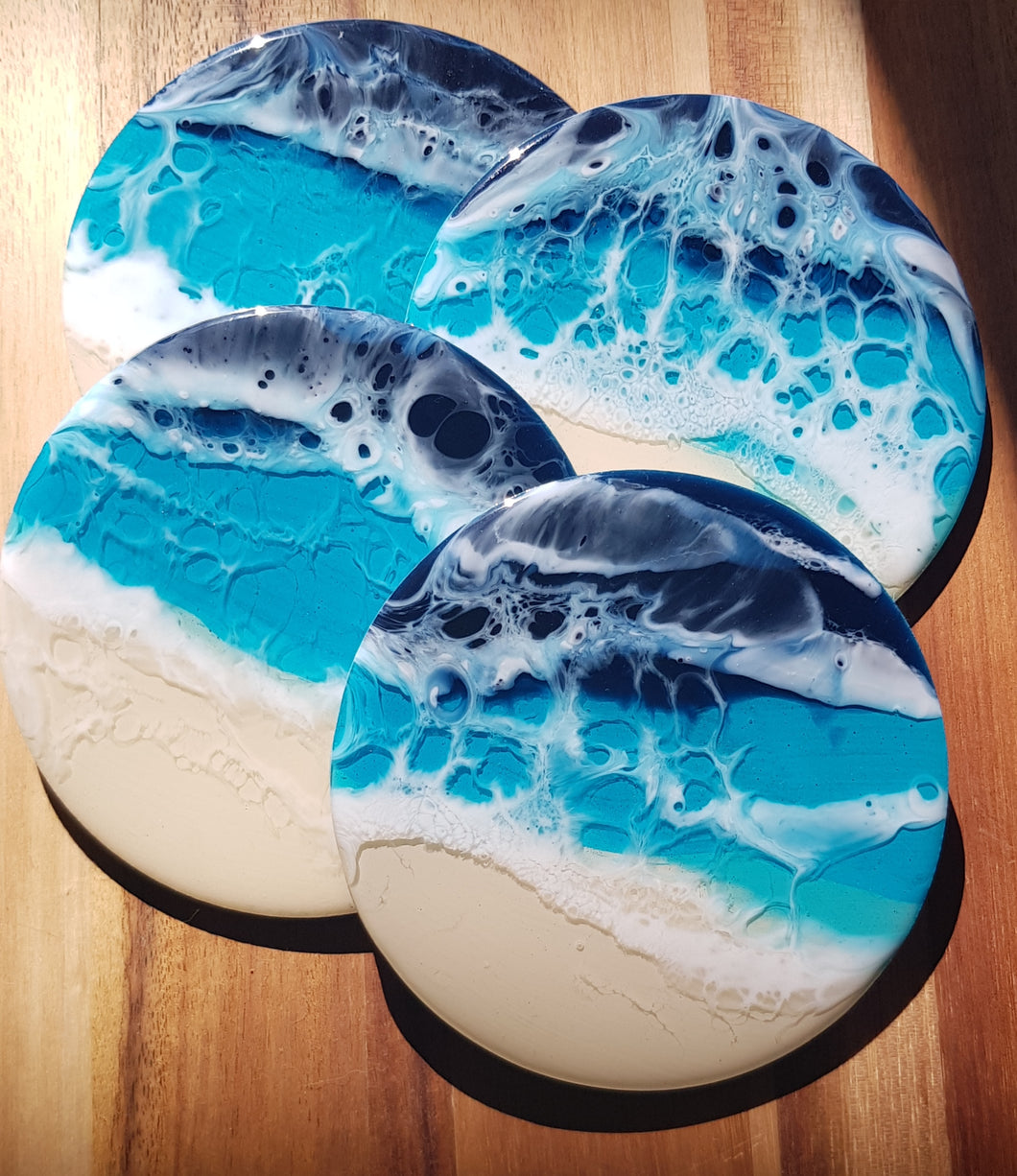 Beach Theme - Set of round coasters