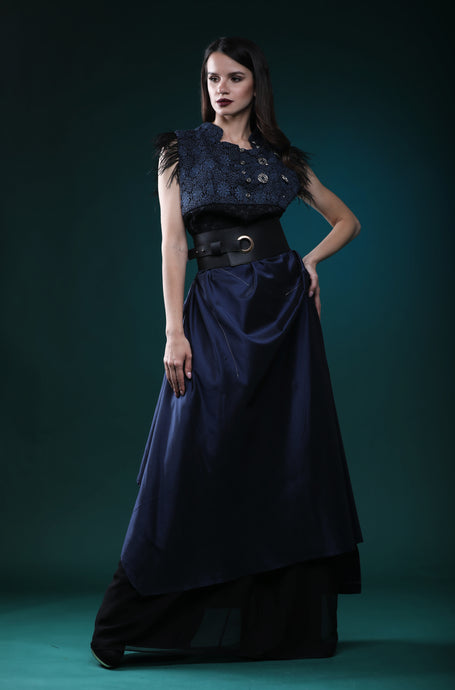 Blue Moon silk dress