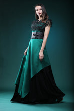Load image into Gallery viewer, Emerald silk dress