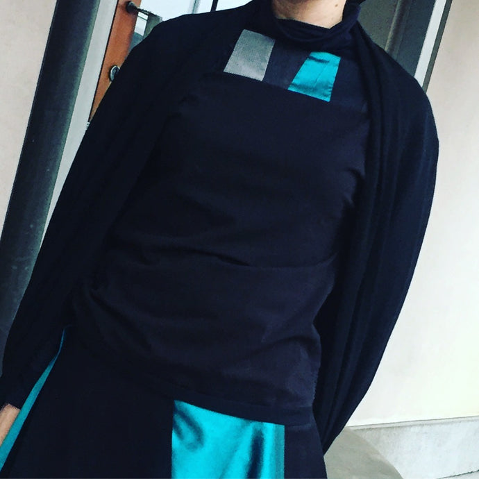 Long sleeve turquoise shirt