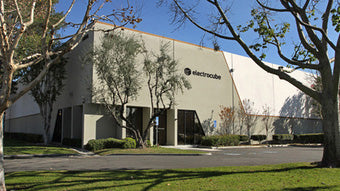 Electrocube manufacturing plant/corporate offices in Pomona, CA, electrical components design, sales, distribution
