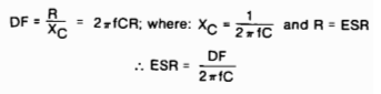 Capacitors for Switching Regulators Filters Figure 9: Disssipation Factor equation