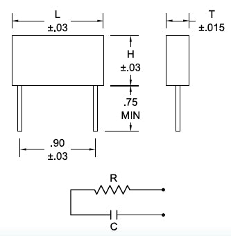 Resistor Capacitor RC Networks Single Phase Drawing