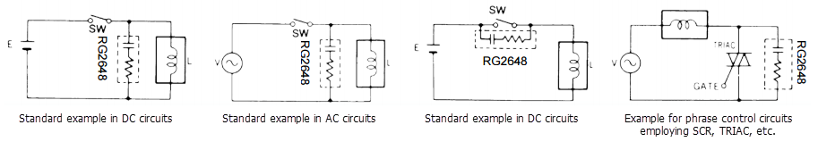 Resistor-Capacitor Substitution Box and Engineering Guide - Application example diagrams