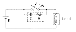 Resistor-Capacitor Substitution Box and Engineering Guide - Arc suppression diagram
