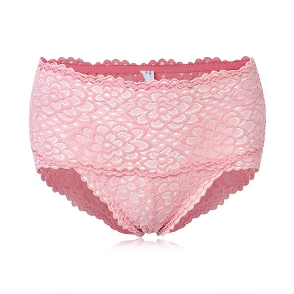 Women High Waist Bamboo Fiber Underwear Briefs Sexy Slim Underwear Panties Thong Lace Hollow Out Ladies Panties Seamless Briefs