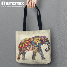 Load image into Gallery viewer, Color Skull Storage Bags Cute Printed Shopping Tote Linen Bag For Food Convenience Women Shoulder Handbags 1 PCS/Lot