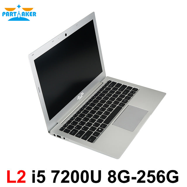 Partaker L2 13.3 Inch Windows 10 Laptop Computer Notebook Computer With Intel Core I5 7200U DDR4 Memory M.2 SSD