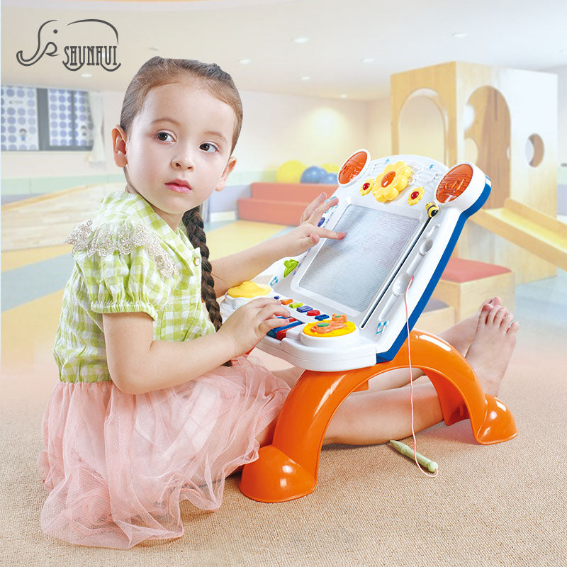 Original Magnetic Drawing Board Toys Kids Plastic Vertical Painting Doodle Musical Writing Board Graffiti Toy Preschool Tool