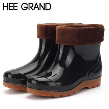 Load image into Gallery viewer, HEE GRAND Men's Rainbooots Fashion Men's Footwear Rubber Boots Rainning Working Shoes For Males XWX4399