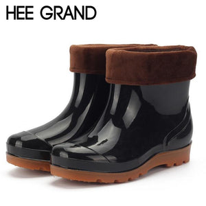 HEE GRAND Men's Rainbooots Fashion Men's Footwear Rubber Boots Rainning Working Shoes For Males XWX4399